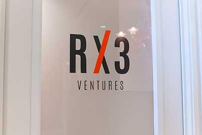 Custom vinyl graphics for store logo on doors