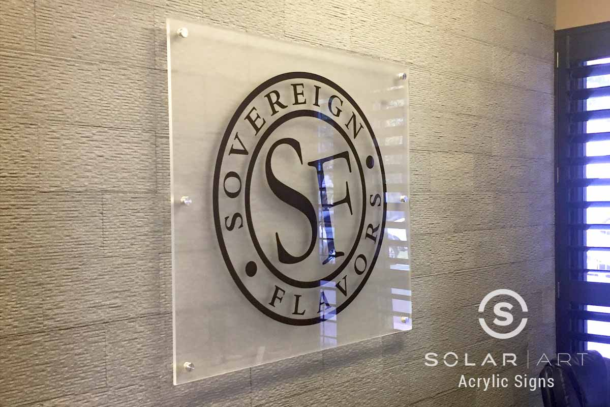 Custom acrylic sign for business