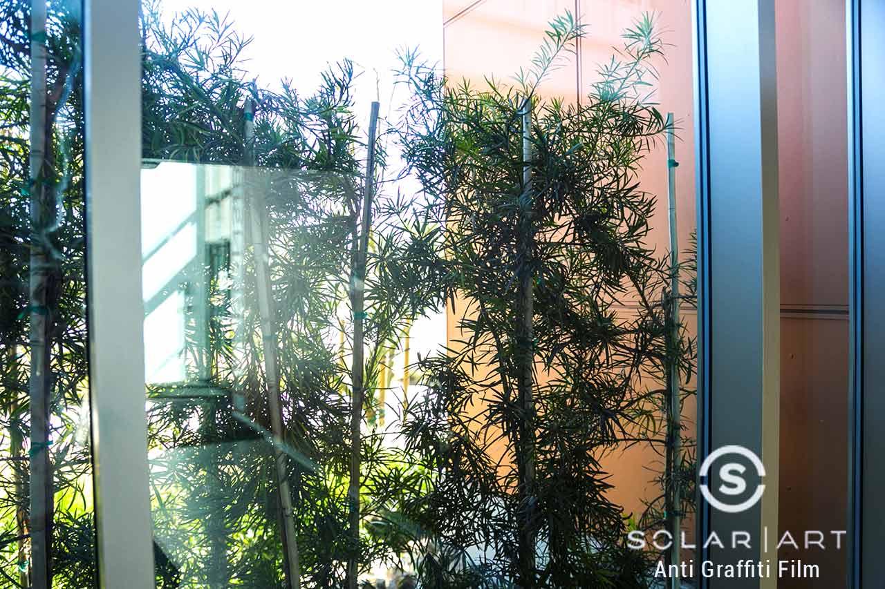 Anti Graffiti window film in Santa Ana, California