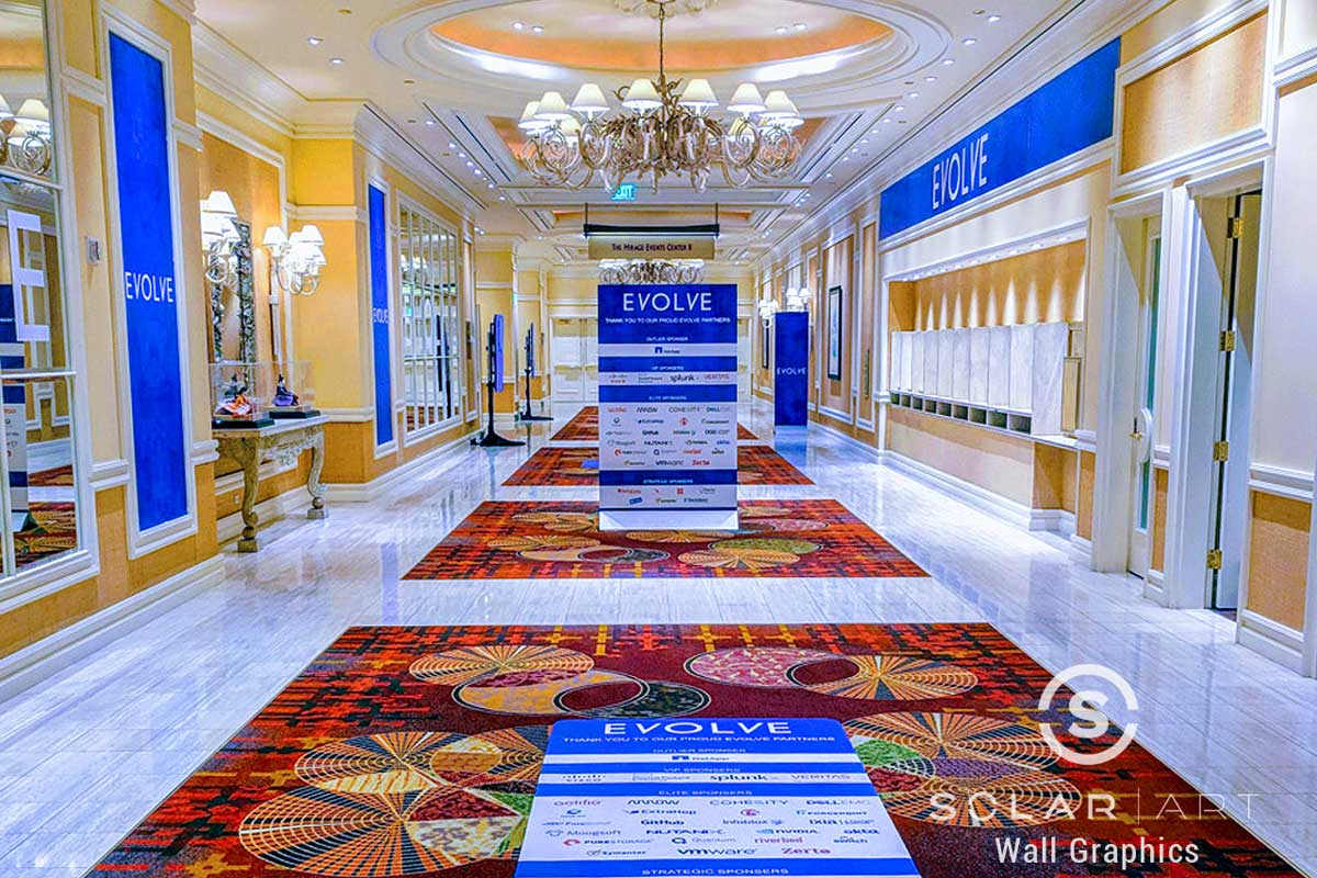 conference branding with custom graphics las vegas