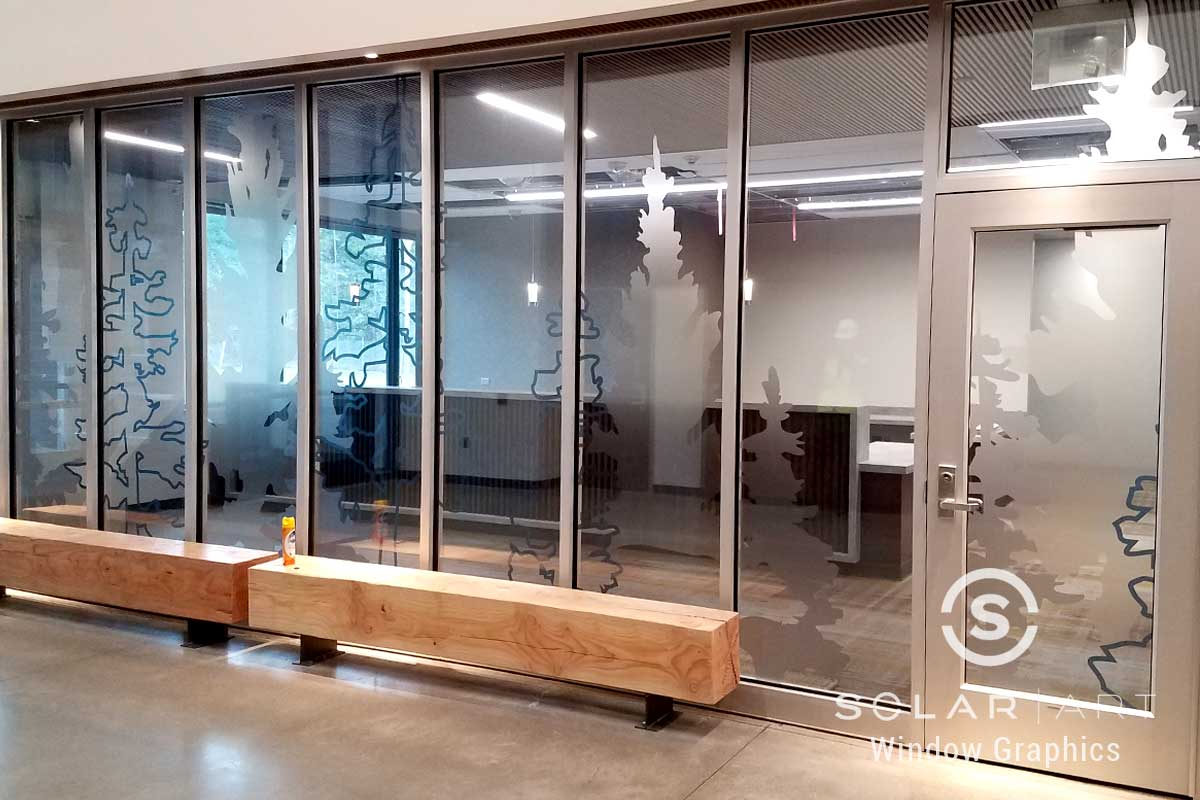 custom window graphics for office glass in tacoma