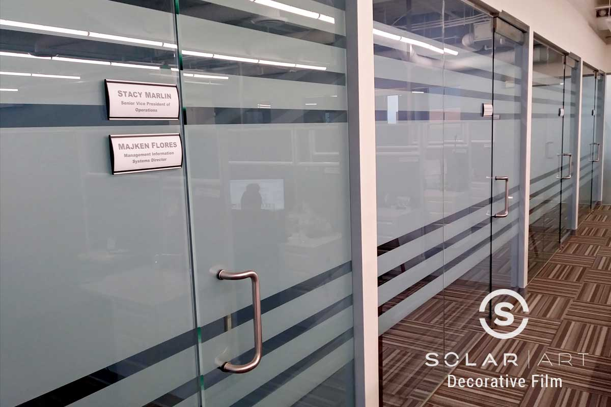 decorative privacy window film for offices buena park