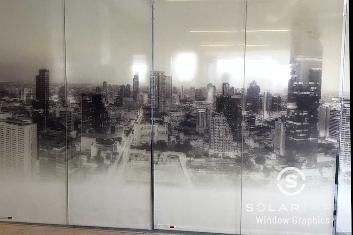 glass wall mural in san jose
