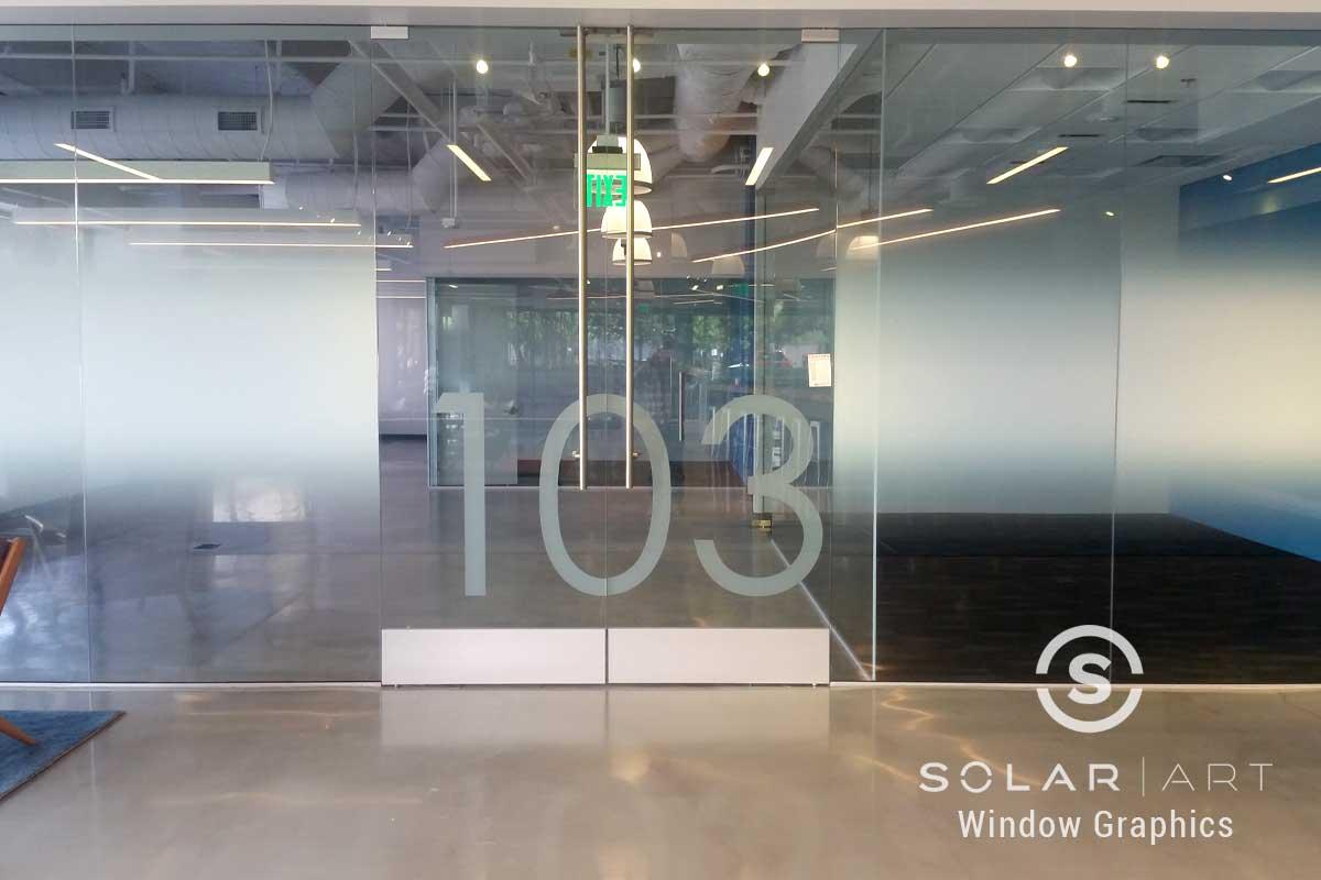 gradient window film office glass san diego