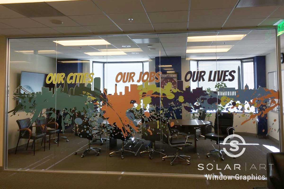 office window graphics in oakland california