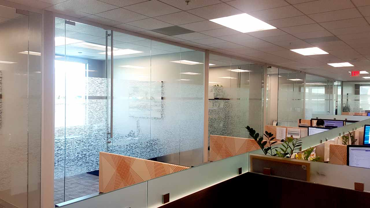 Decorative window film for office privacy