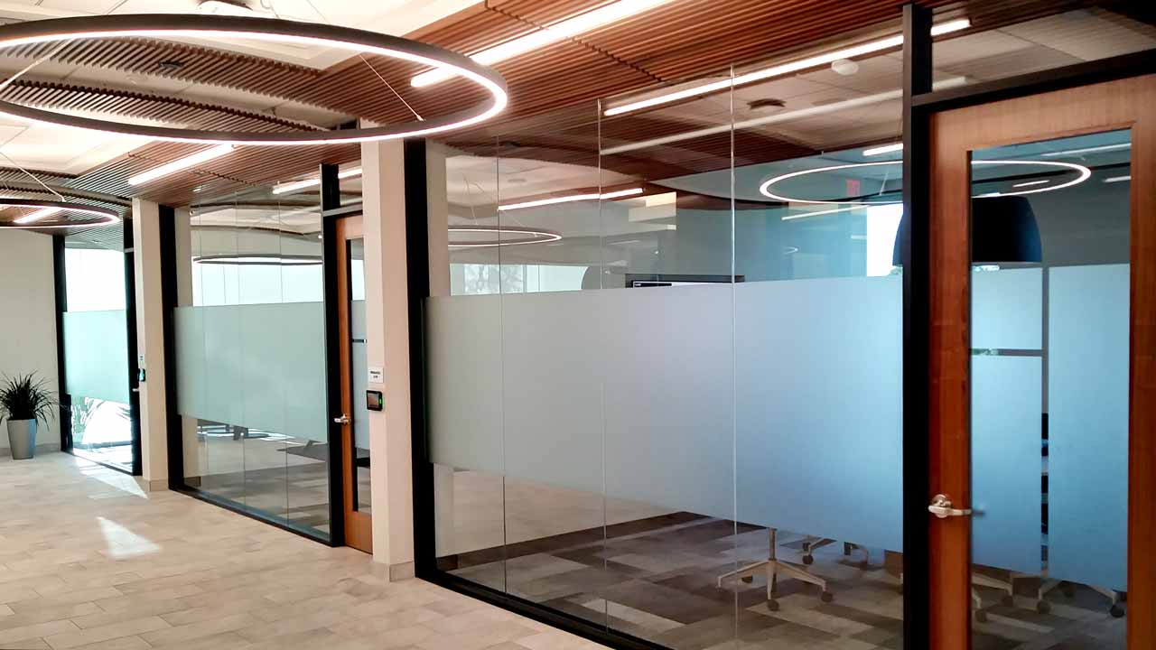 Frosted window film for office privacy