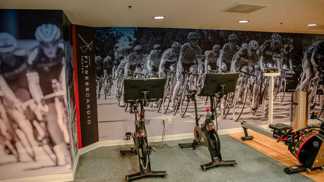 wall murals fitness center