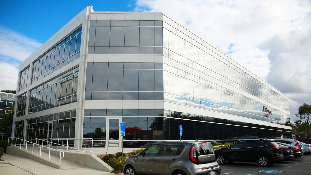 commercial building solar film full building