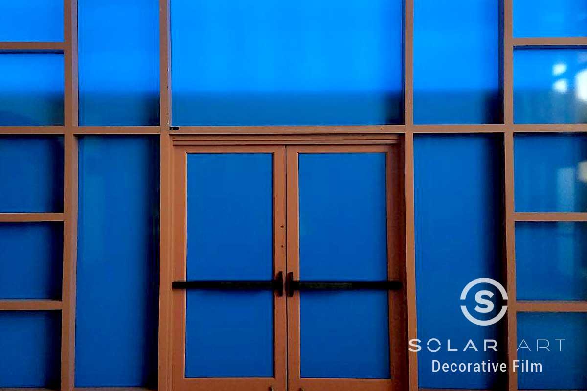 Blue vinyl installation