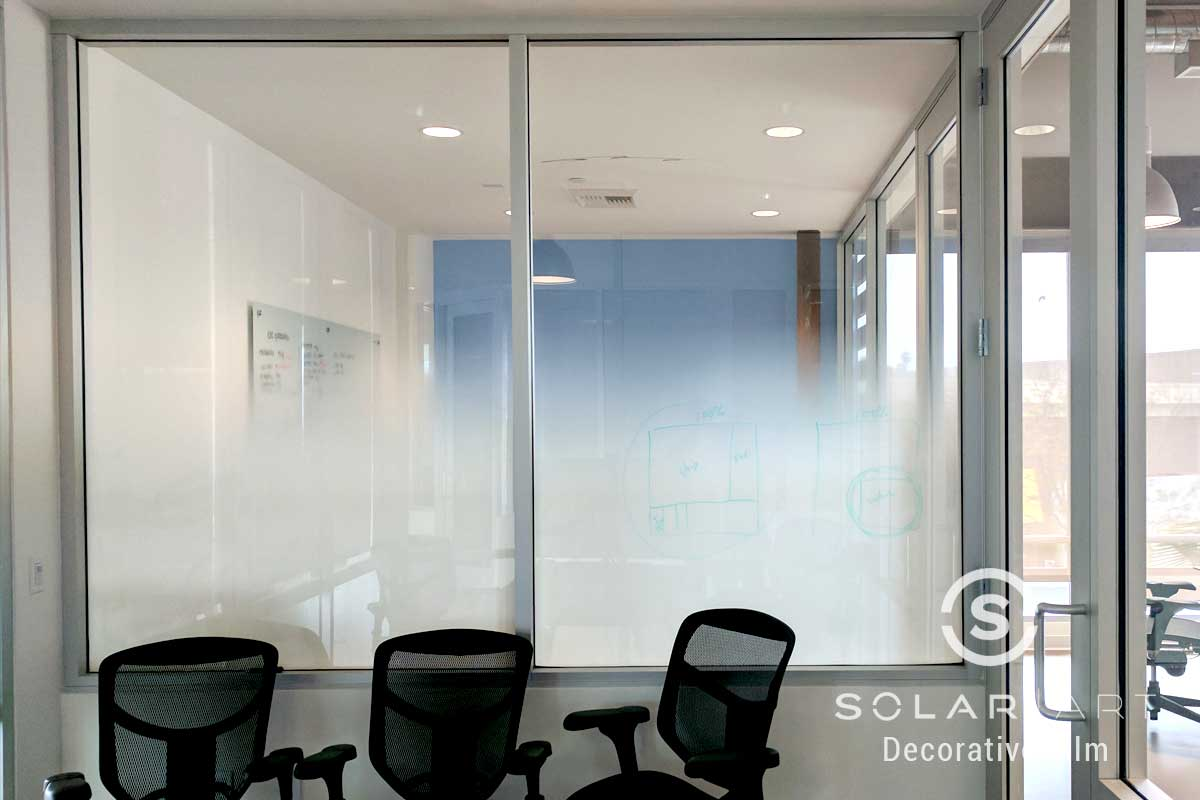 Dry erase window film