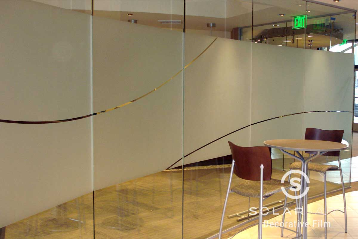 Frosted decorative window film with di cut