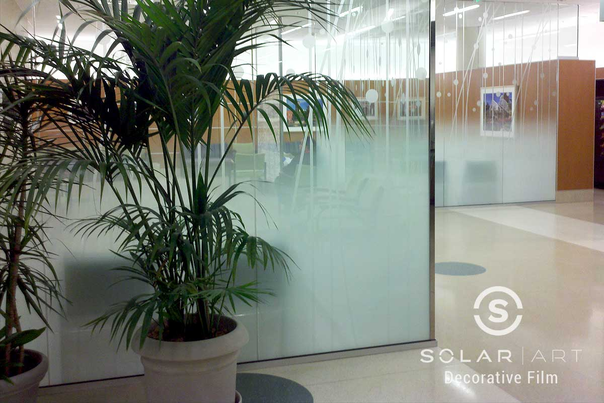 Frosted gradient pattern window film