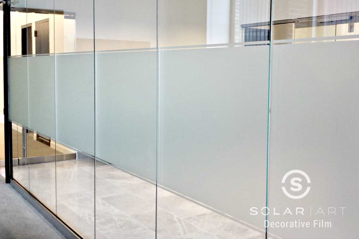 Frosted privacy window film designs