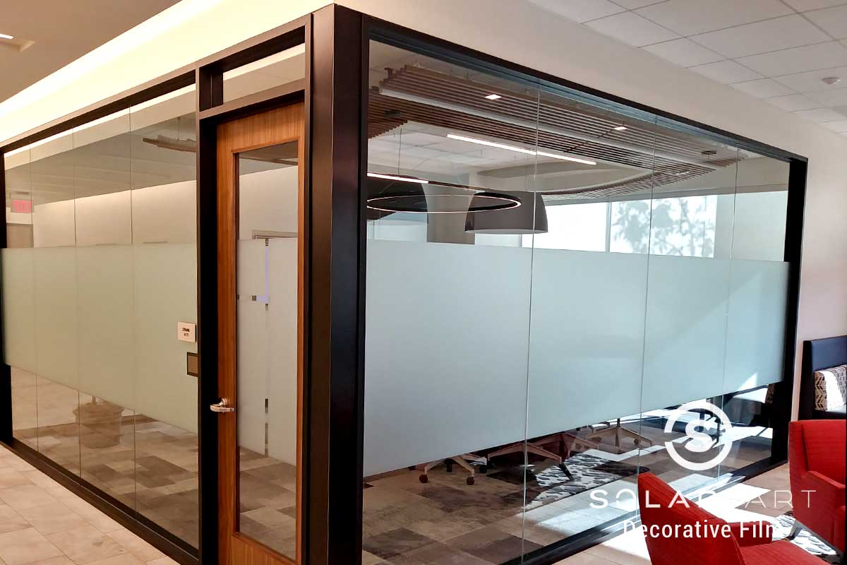 Frost window film band