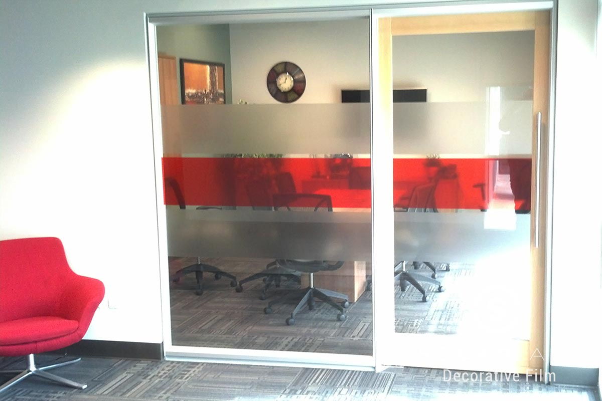 Red decorative window film