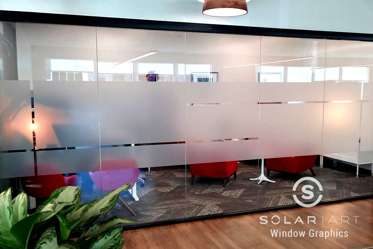 Frosted glass for conference rooms