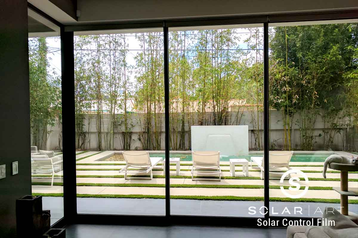 Clear window film for homes