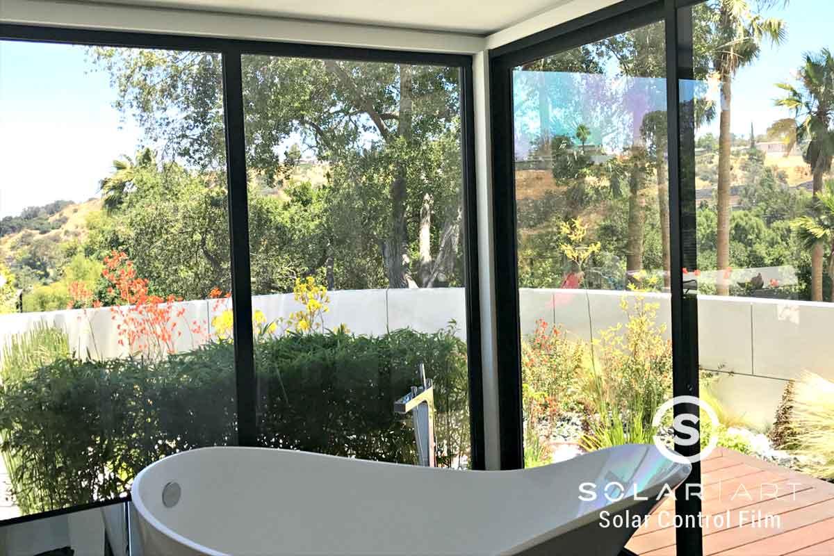 Heat blocking window film for homes