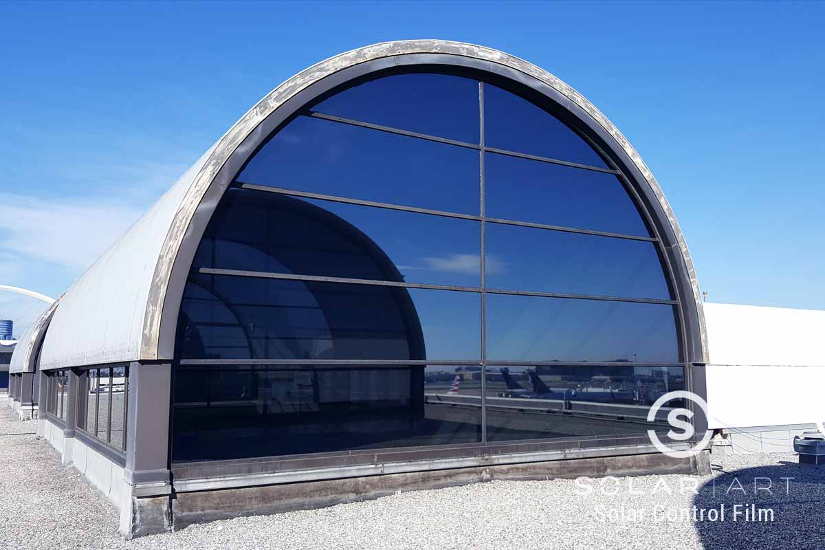 Window film for vertical skylights
