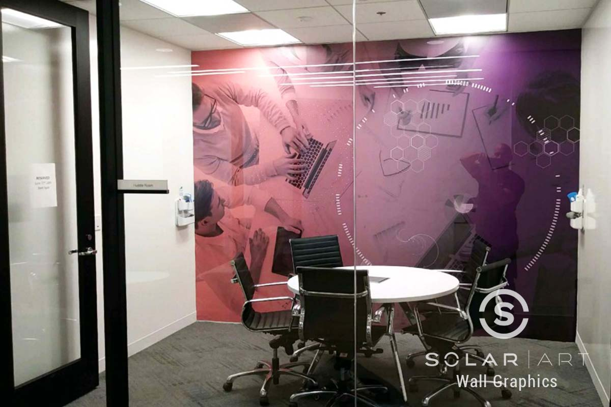 Private office wall graphics