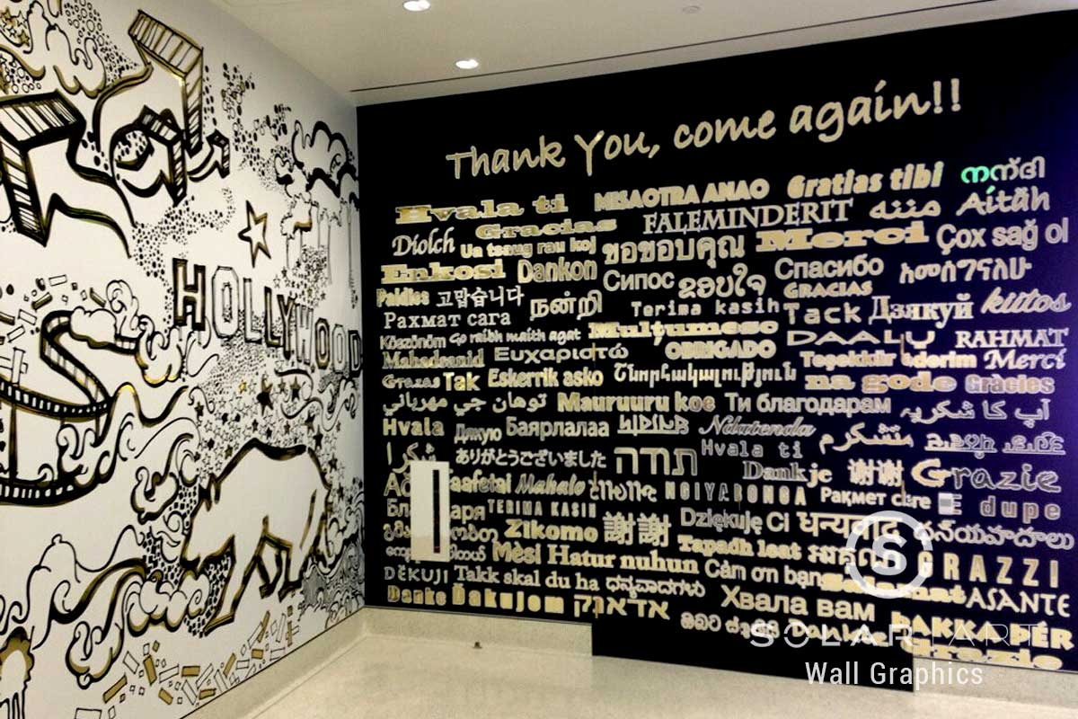 Custom wall mural design