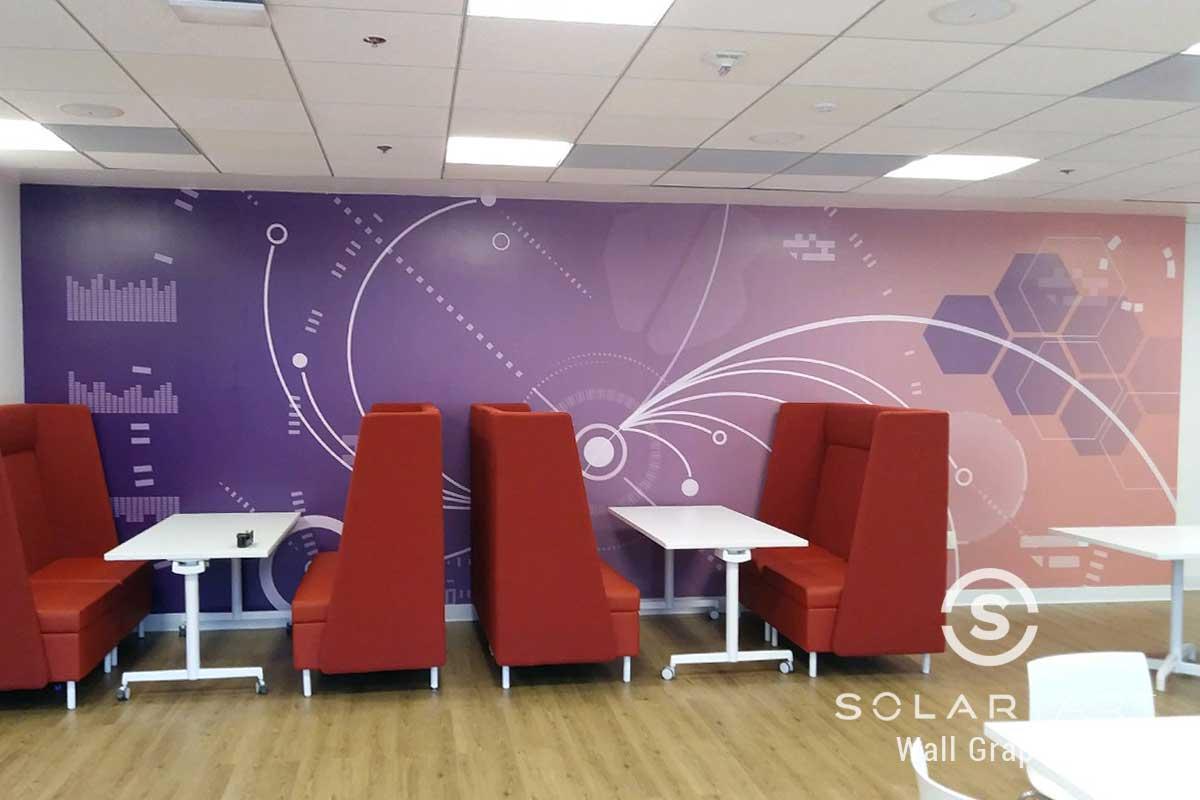 Wall graphics break room