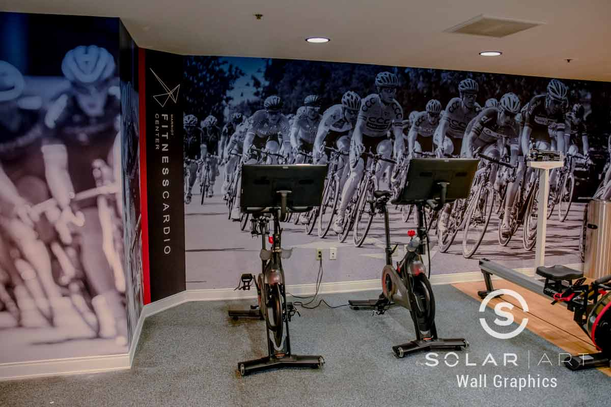 Wall mural for gym or fitness center