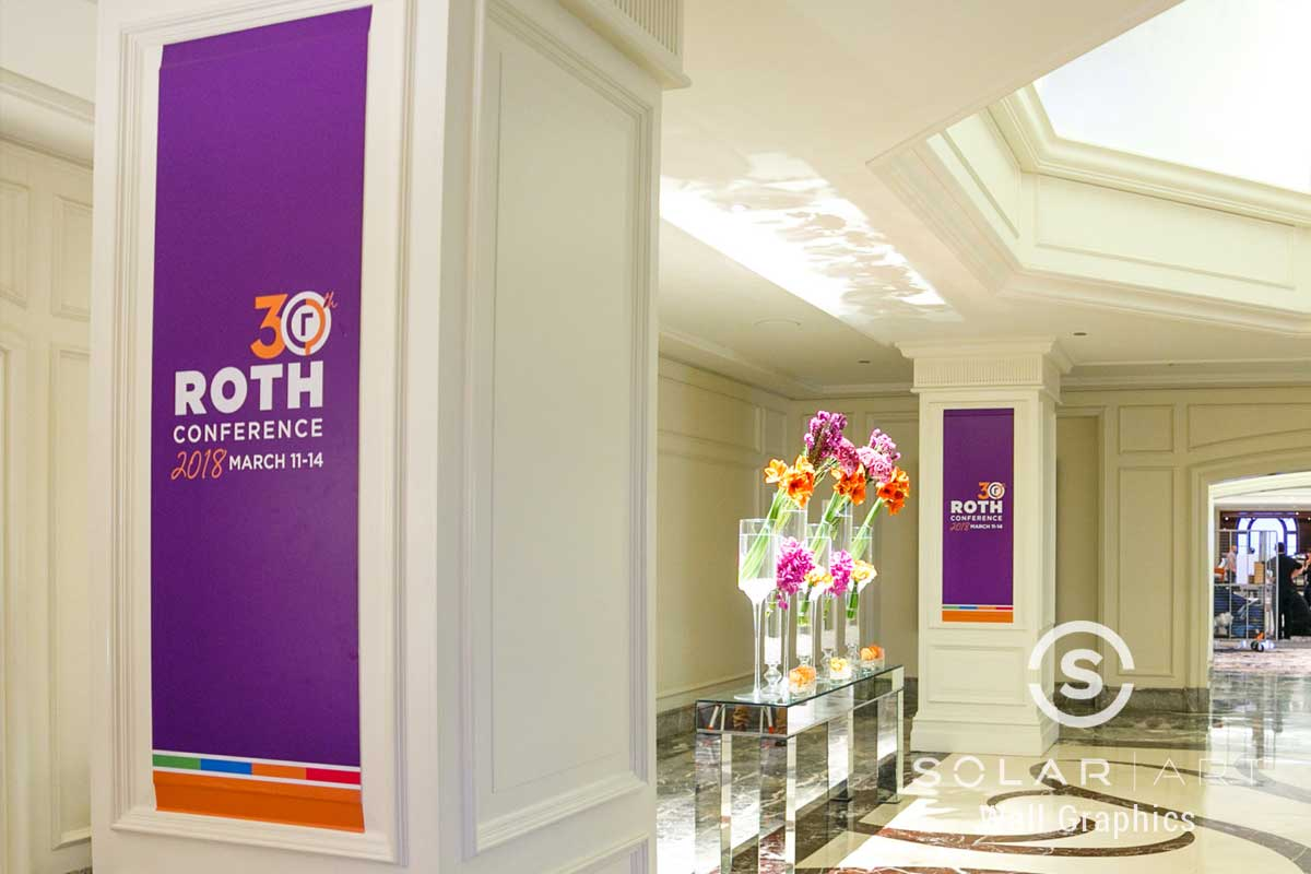 Wall graphics for conference branding