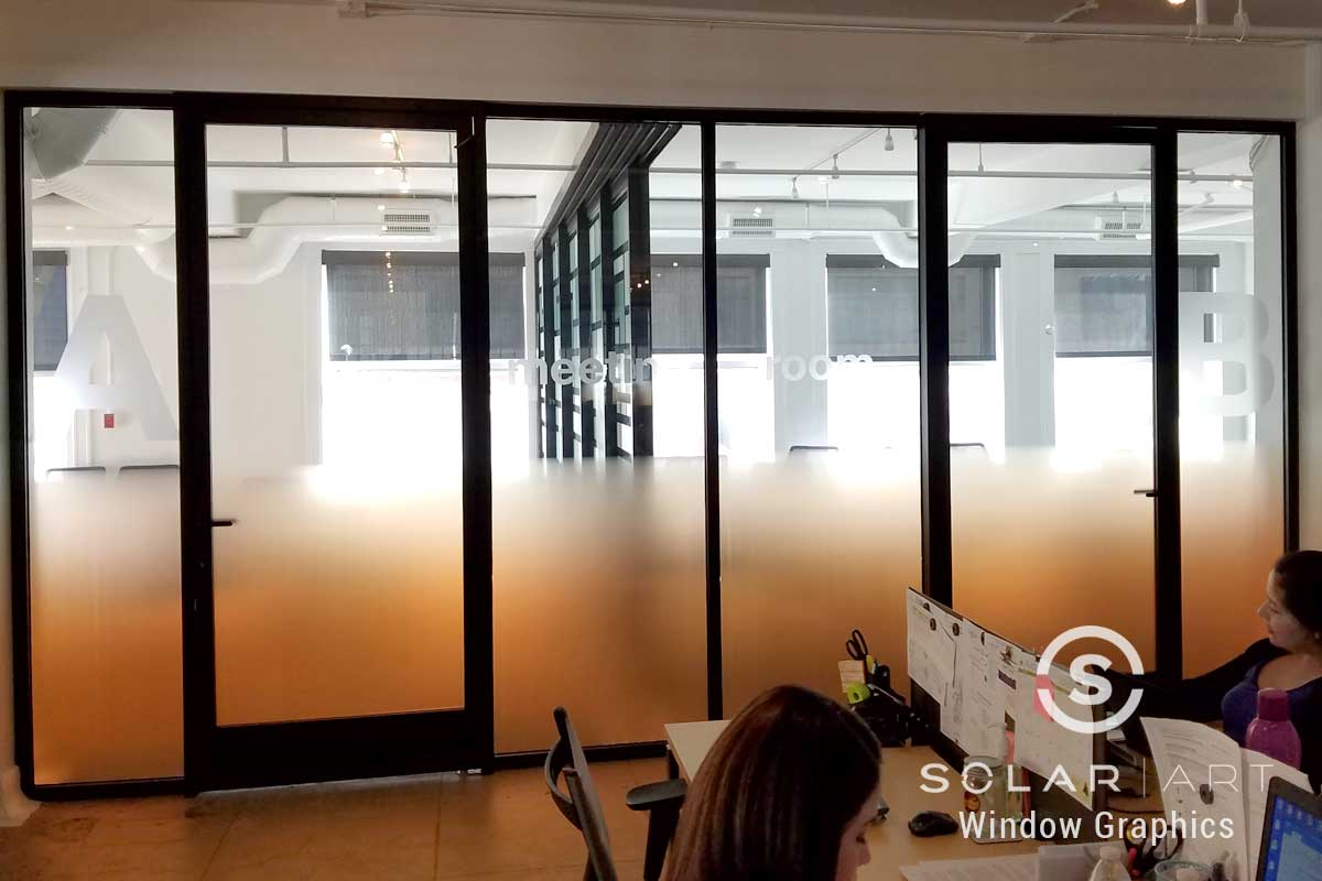 Orange gradient window film