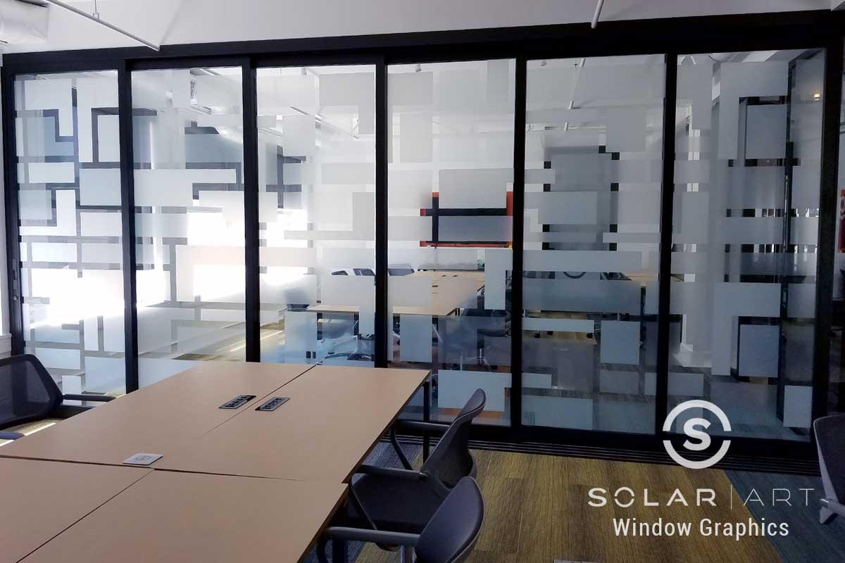Window graphics square designs