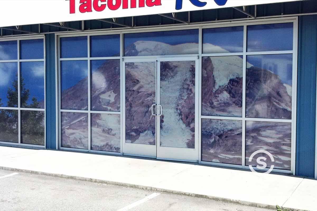 Window graphics of Seattle