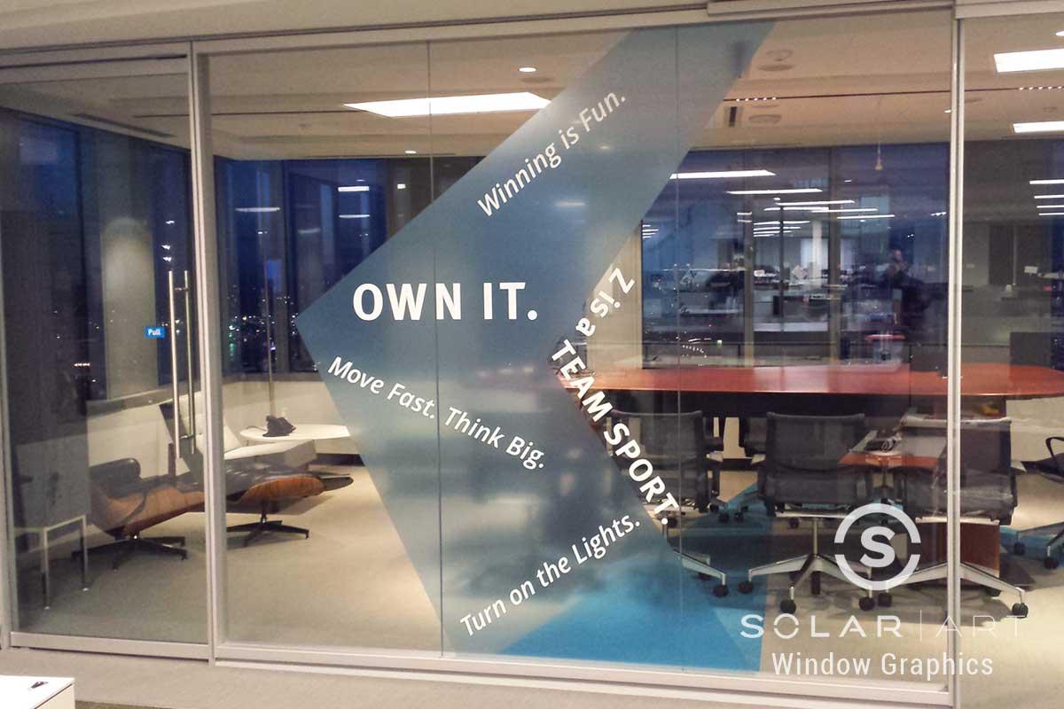 Window graphics company values