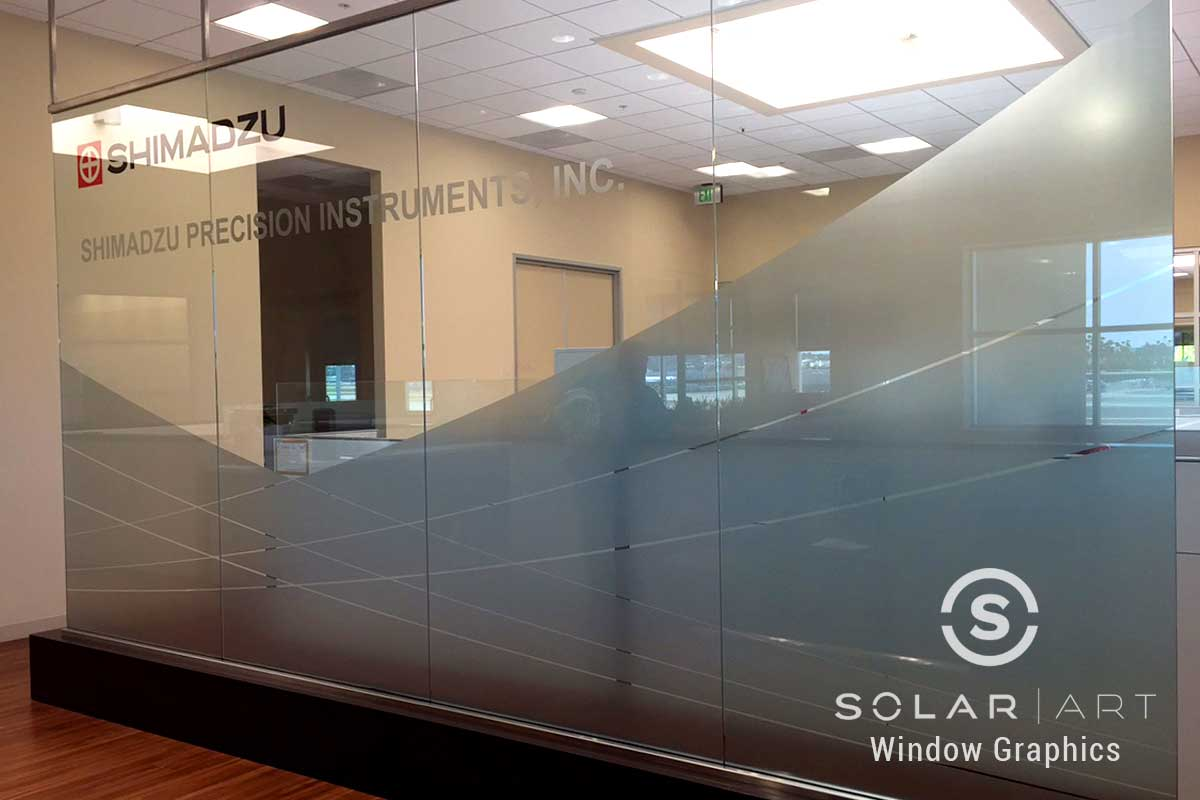 Window graphics for glass partitions