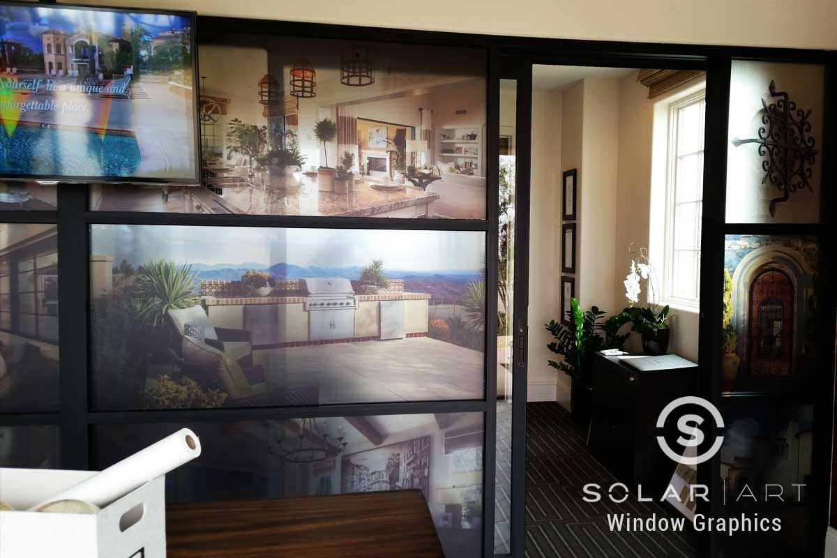 Window graphics with printed pictures