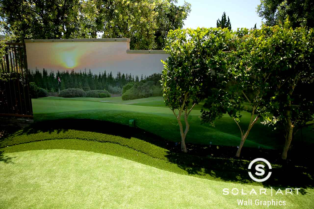 Custom wall mural in backyard in Irvine