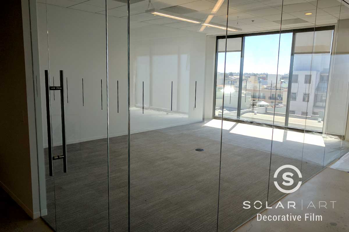 decorative window film distraction pattern in hollywood ca
