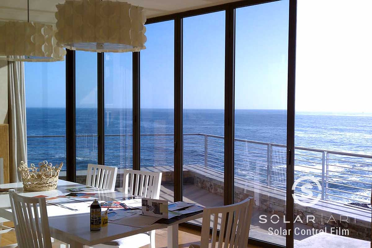 Ocean view window film