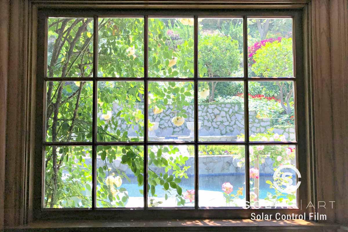 Window film for french pane window