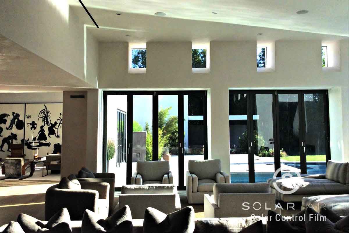 Ceramic window film for homes