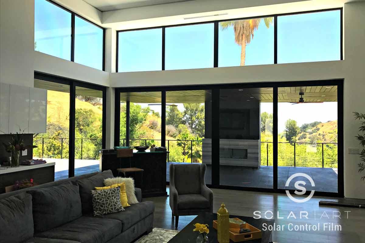 Ceramic window film for large windows