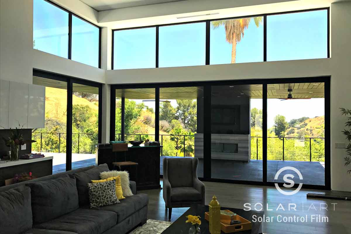 Ceramic window film for large windows
