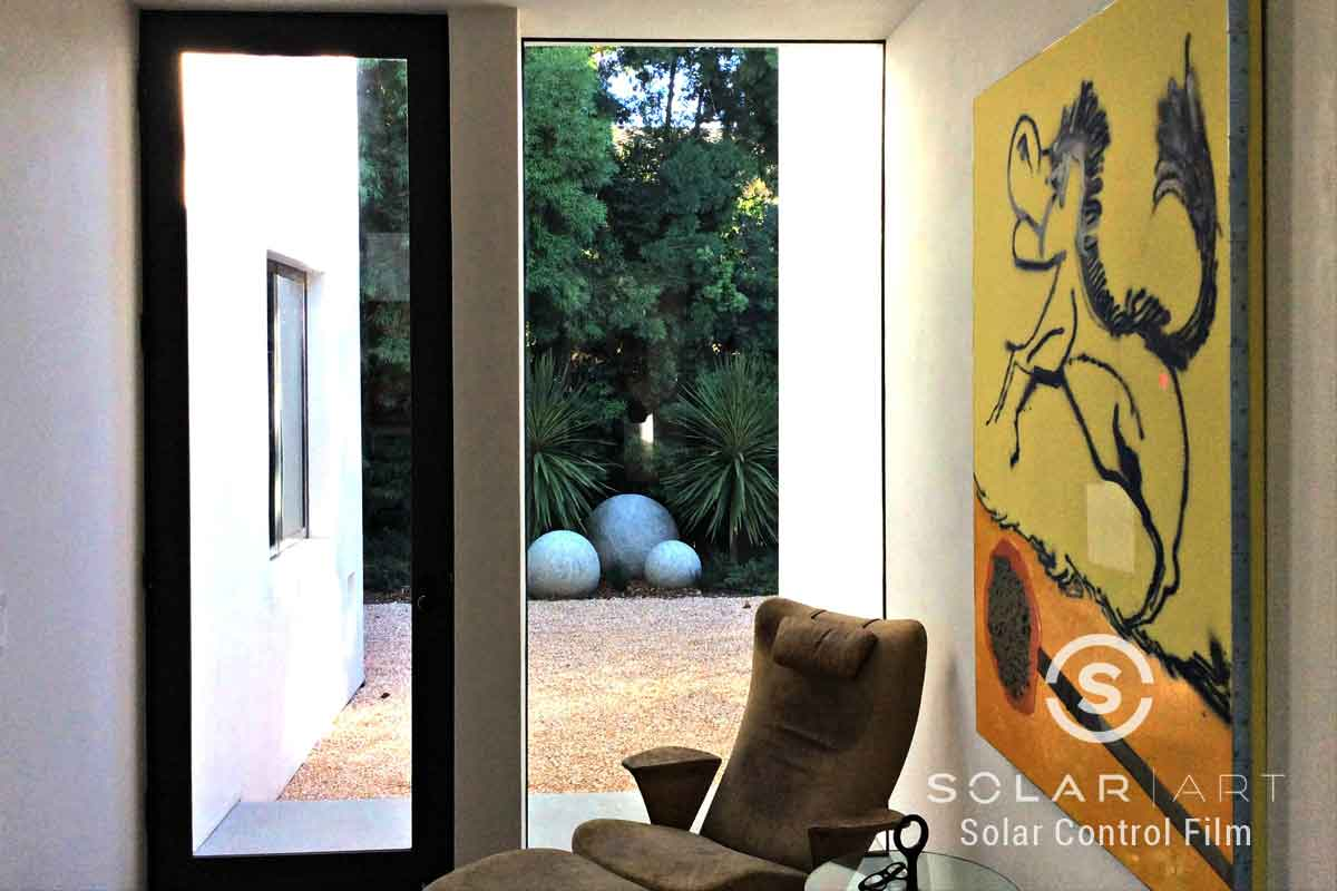 Window film for back door of home