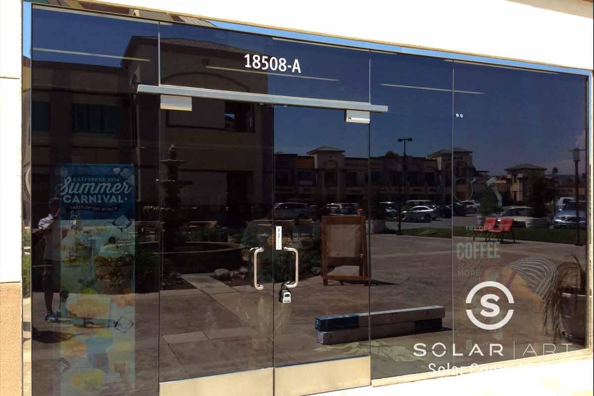 UV blocking window film for retail shop