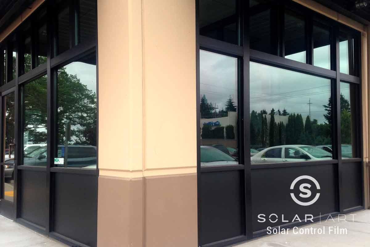 Storefront window film
