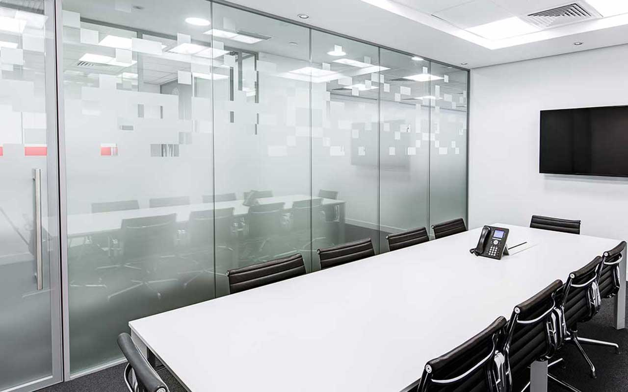 Decorative window film design commercial offices