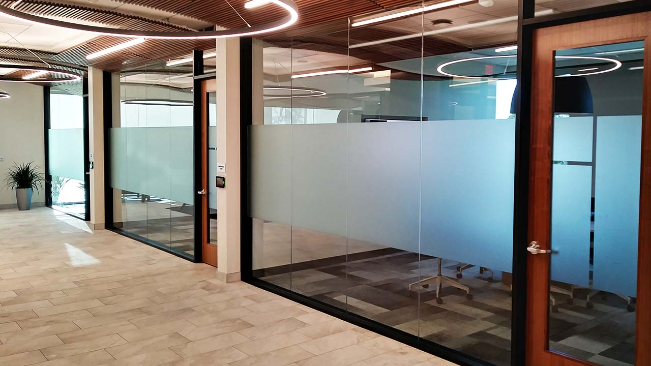 decorative window film for commercial buildings