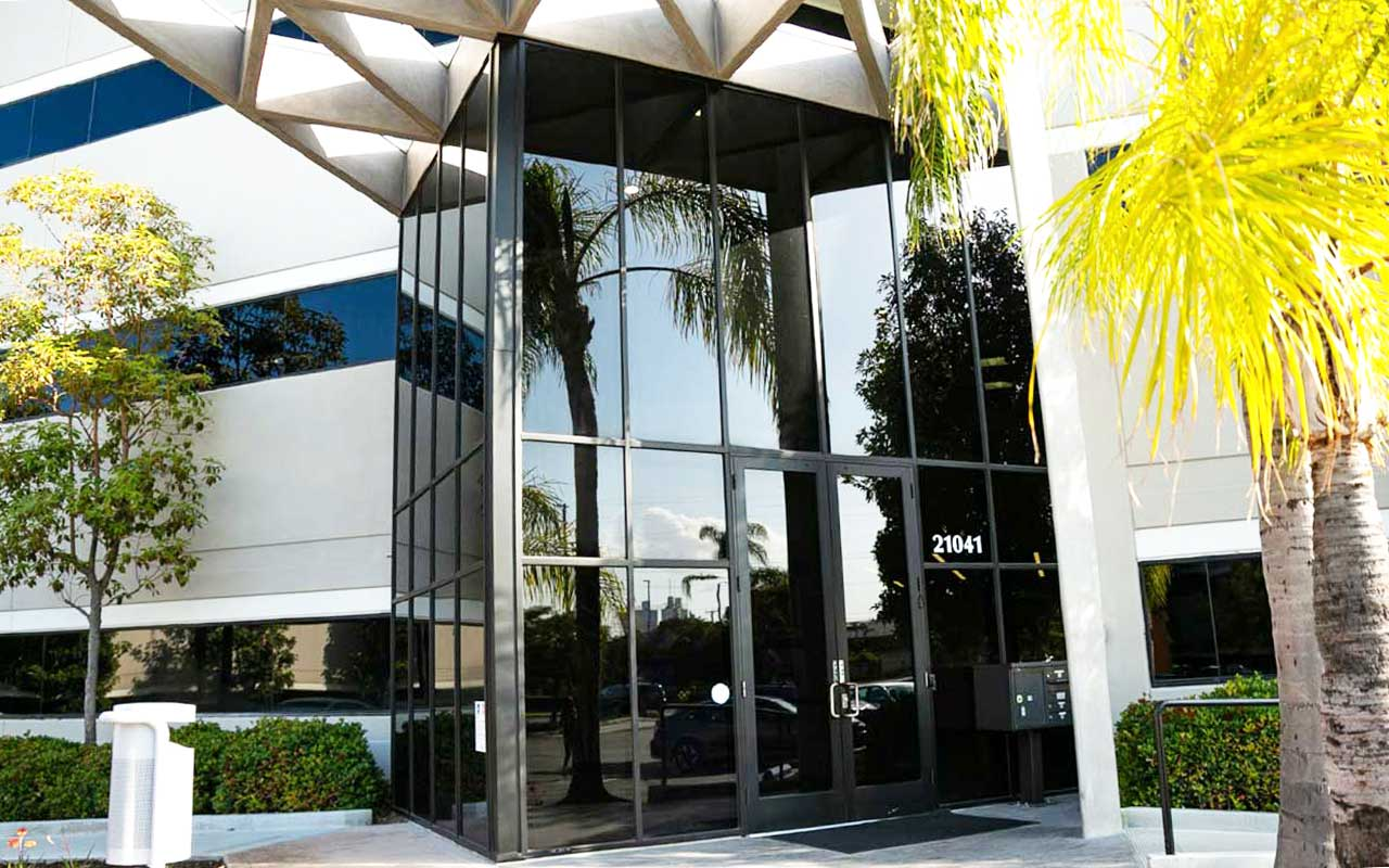 dual reflective window film for commercial office building