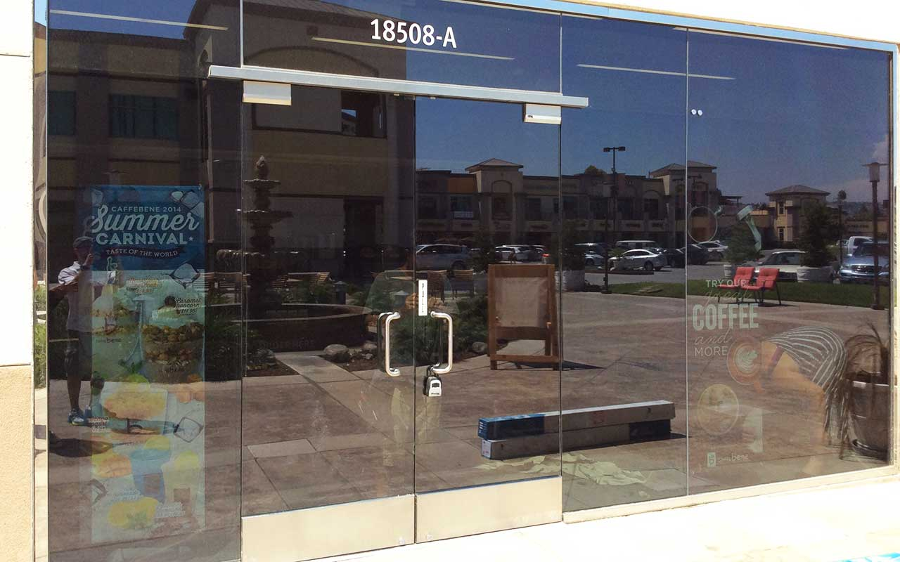 energy efficient window film for business storefronts