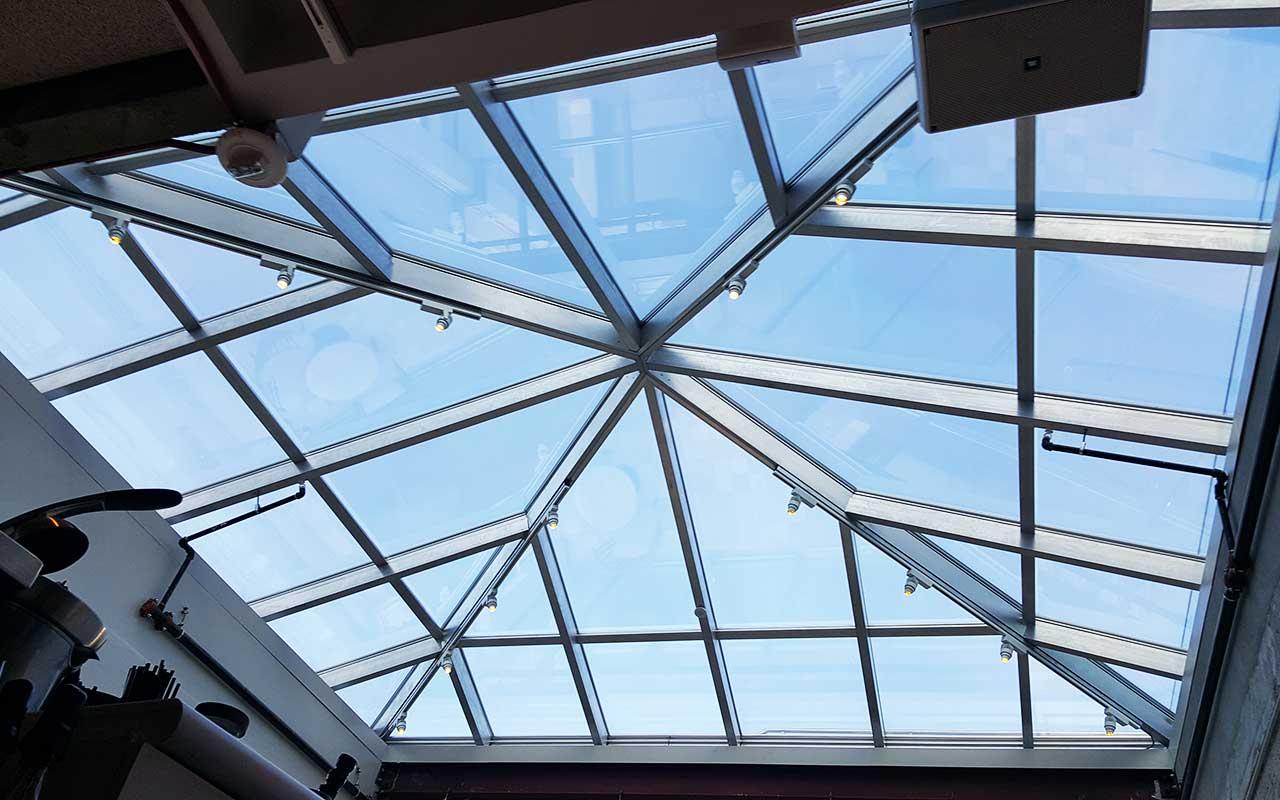 glare reducing window film for skylights